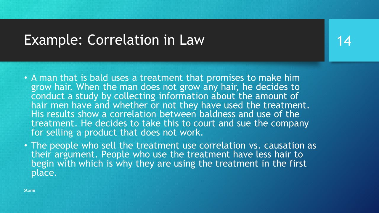 Example: Correlation in Law