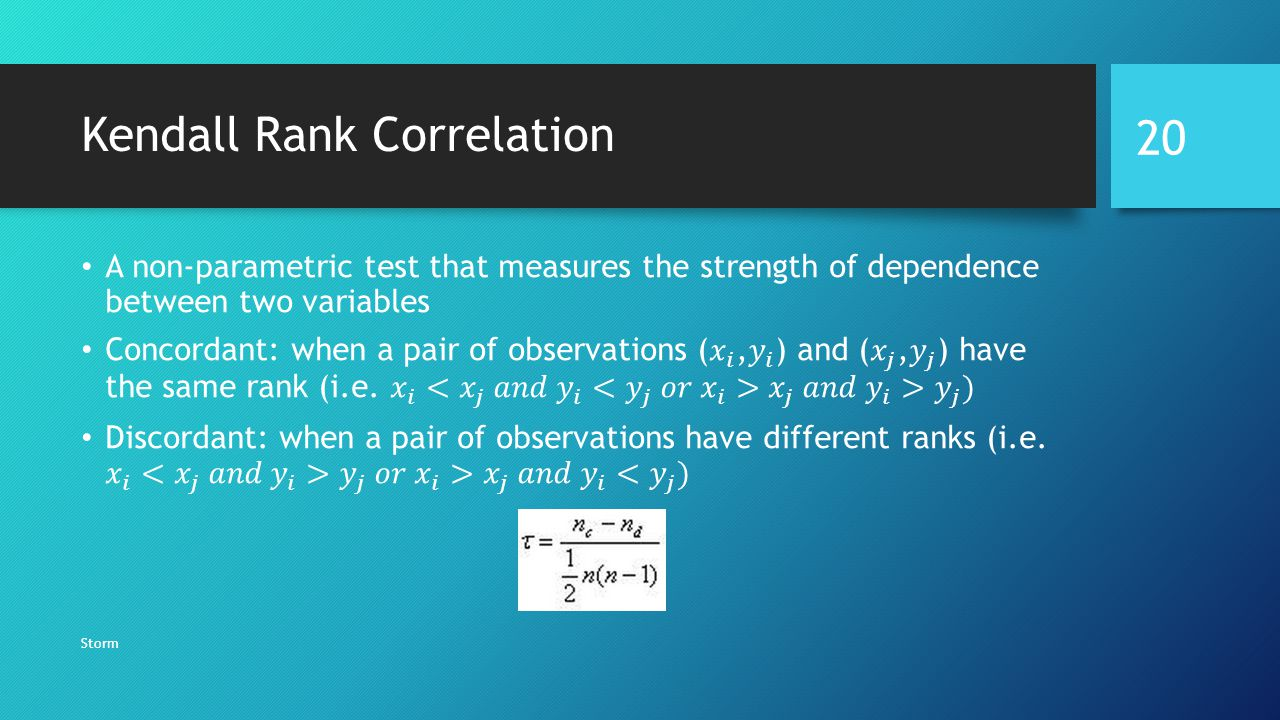 Kendall Rank Correlation