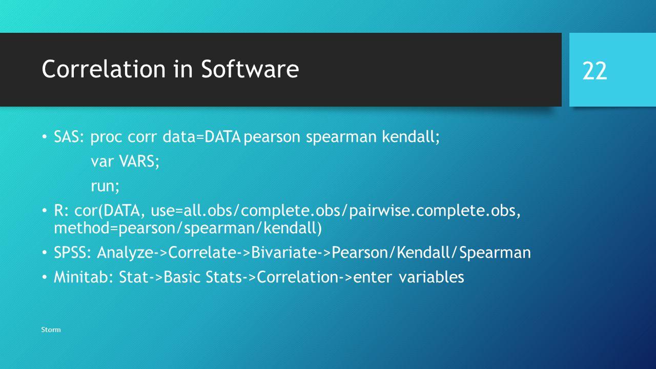 Correlation in Software