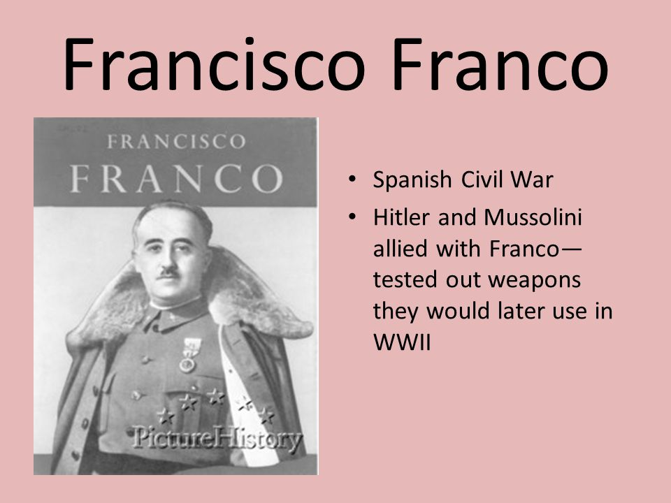 Francisco Franco Spanish Civil War