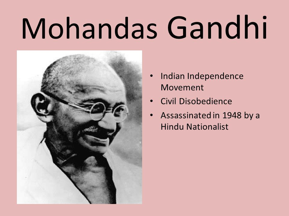 Mohandas Gandhi Indian Independence Movement Civil Disobedience