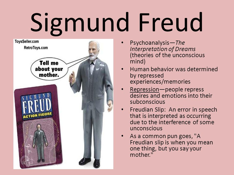 Sigmund Freud Psychoanalysis—The Interpretation of Dreams (theories of the unconscious mind)
