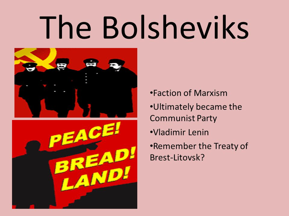The Bolsheviks Faction of Marxism
