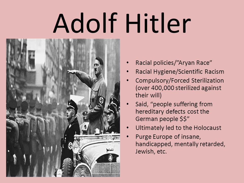 Adolf Hitler Racial policies/ Aryan Race