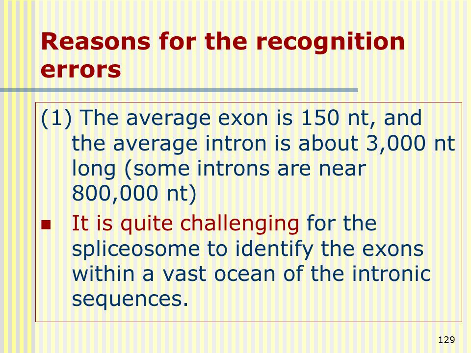 Reasons for the recognition errors