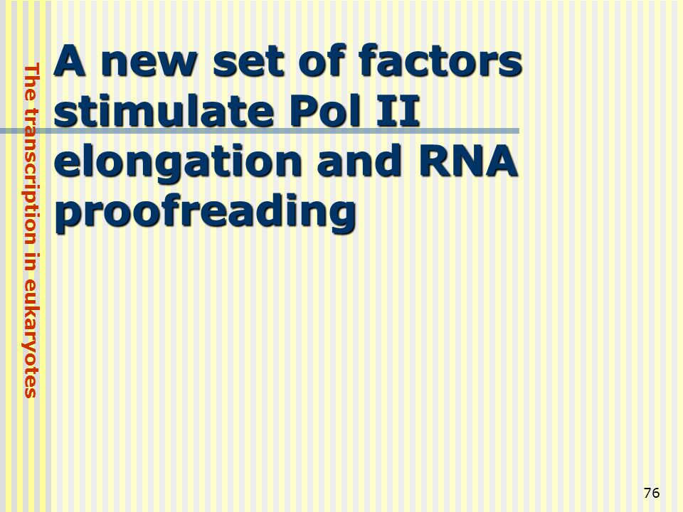 A new set of factors stimulate Pol II elongation and RNA proofreading
