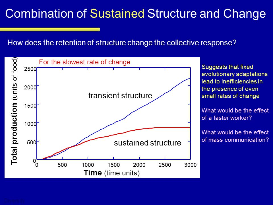 Combination of Sustained Structure and Change