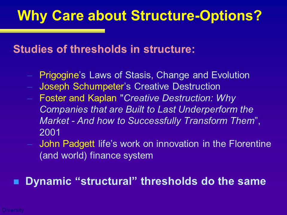 Why Care about Structure-Options