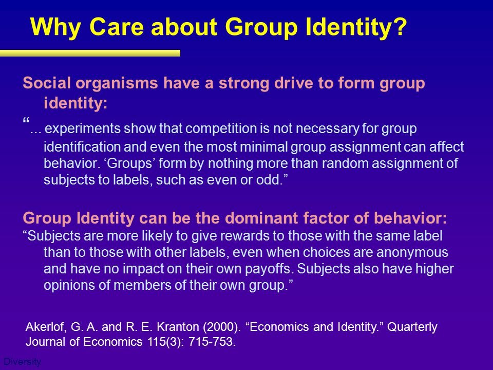 Why Care about Group Identity