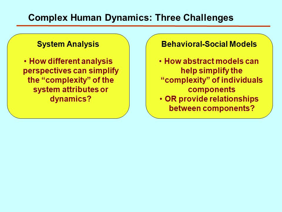 Complex Human Dynamics: Three Challenges