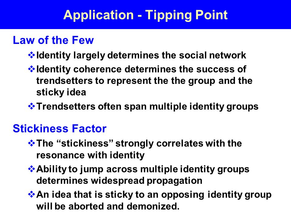 Application - Tipping Point