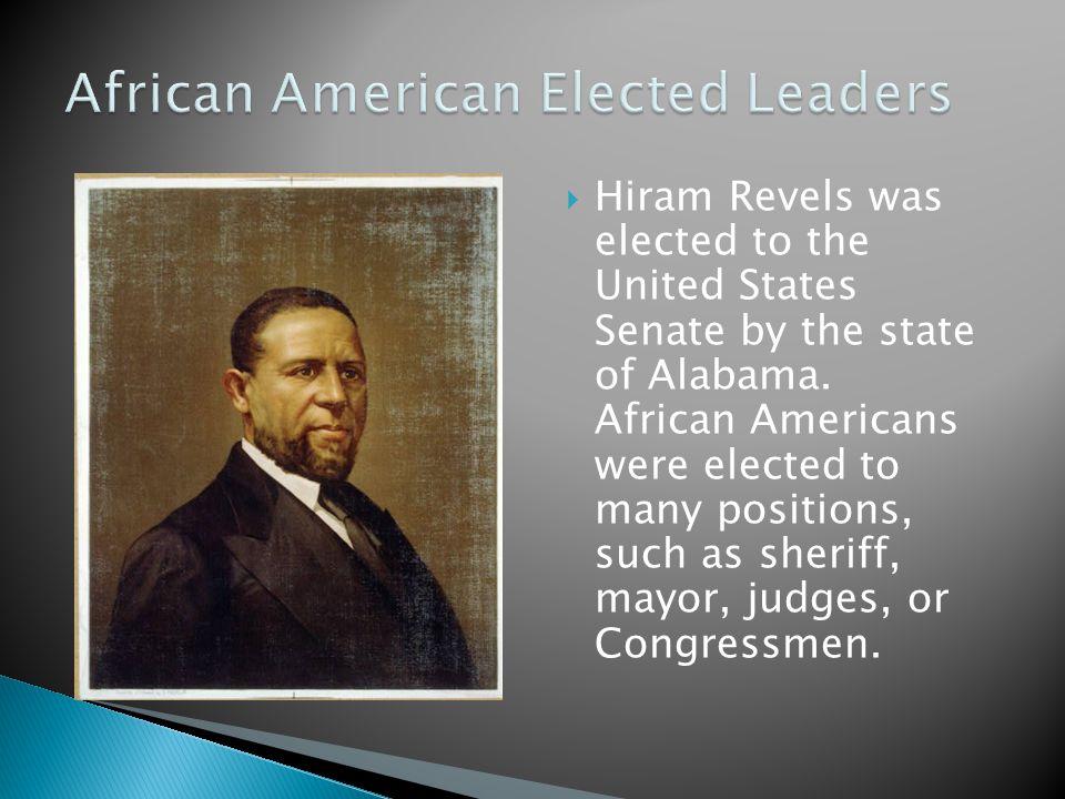 African American Elected Leaders
