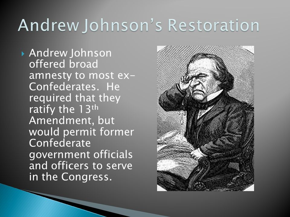 Andrew Johnson's Restoration