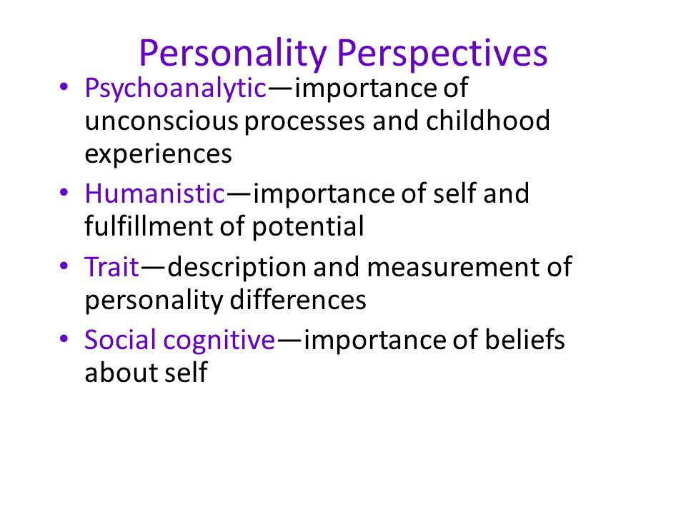 Personality Perspectives