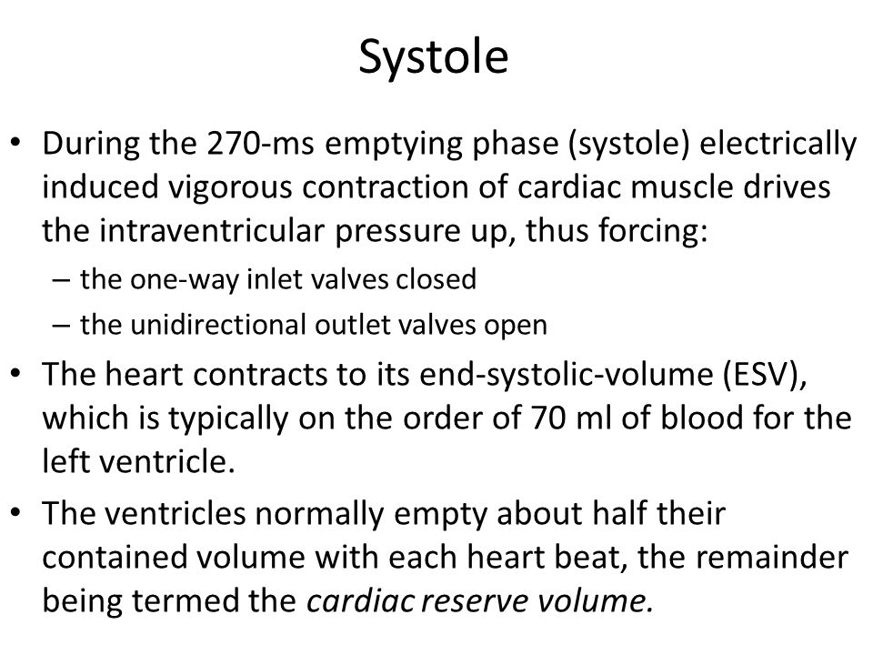 Systole
