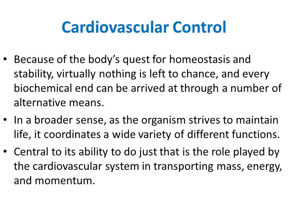 Cardiovascular Control