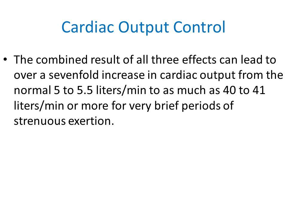 Cardiac Output Control