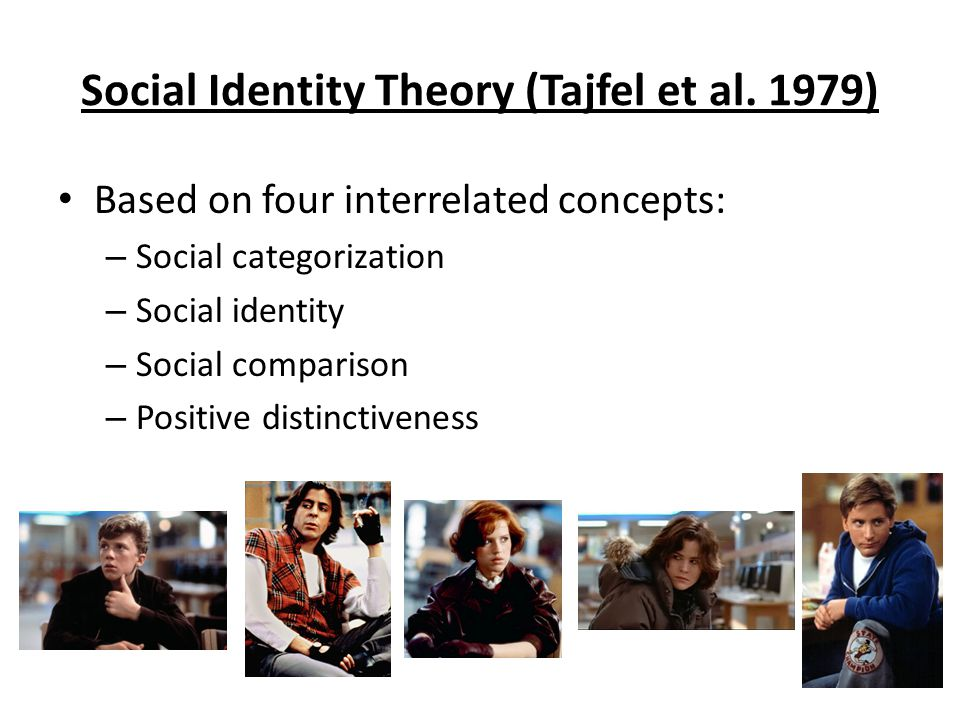 Social Identity Theory (Tajfel et al. 1979)