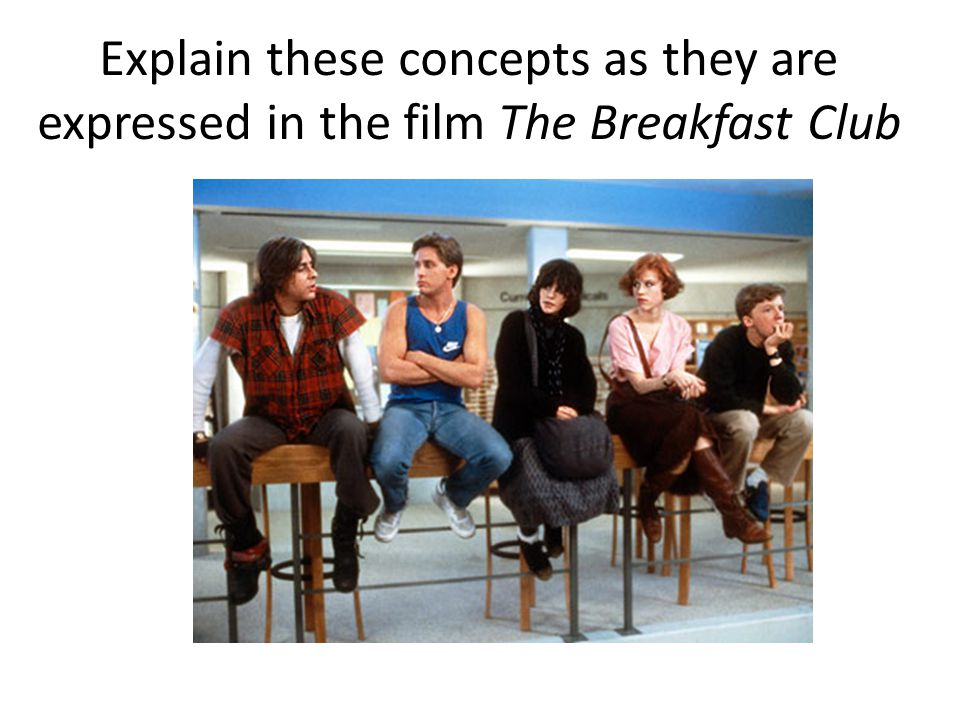 Explain these concepts as they are expressed in the film The Breakfast Club