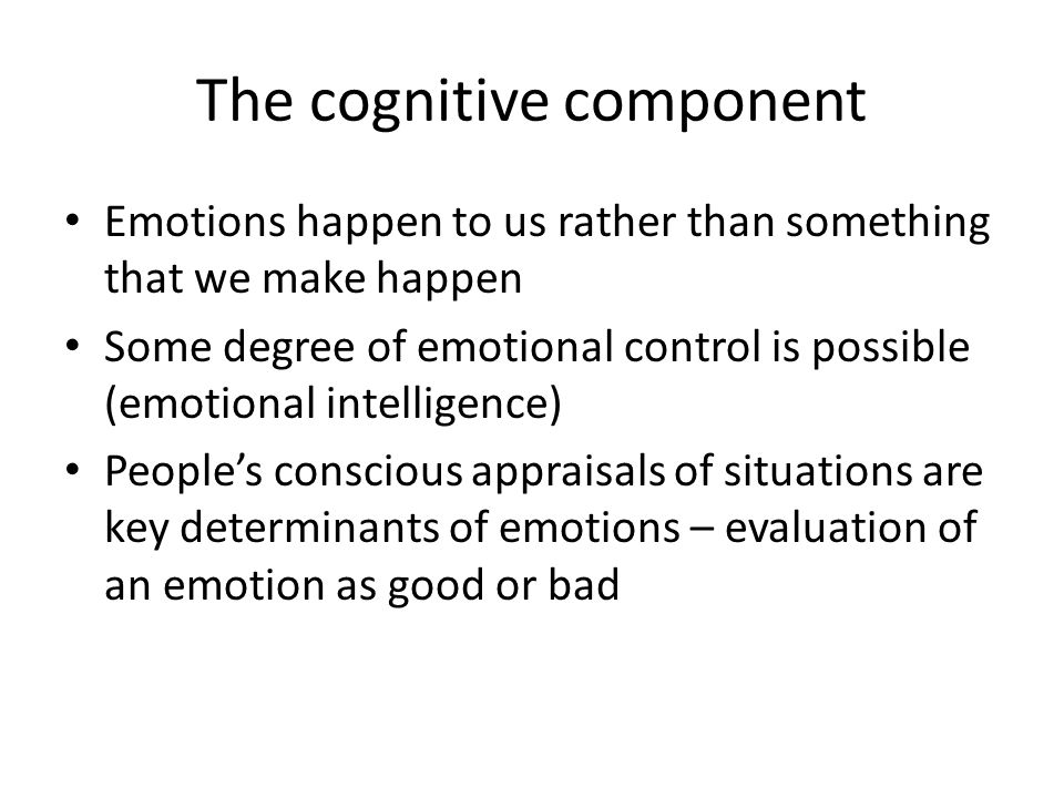 The cognitive component