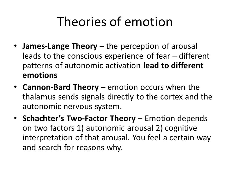 A Brief Insight Into the James-Lange Theory of Emotion
