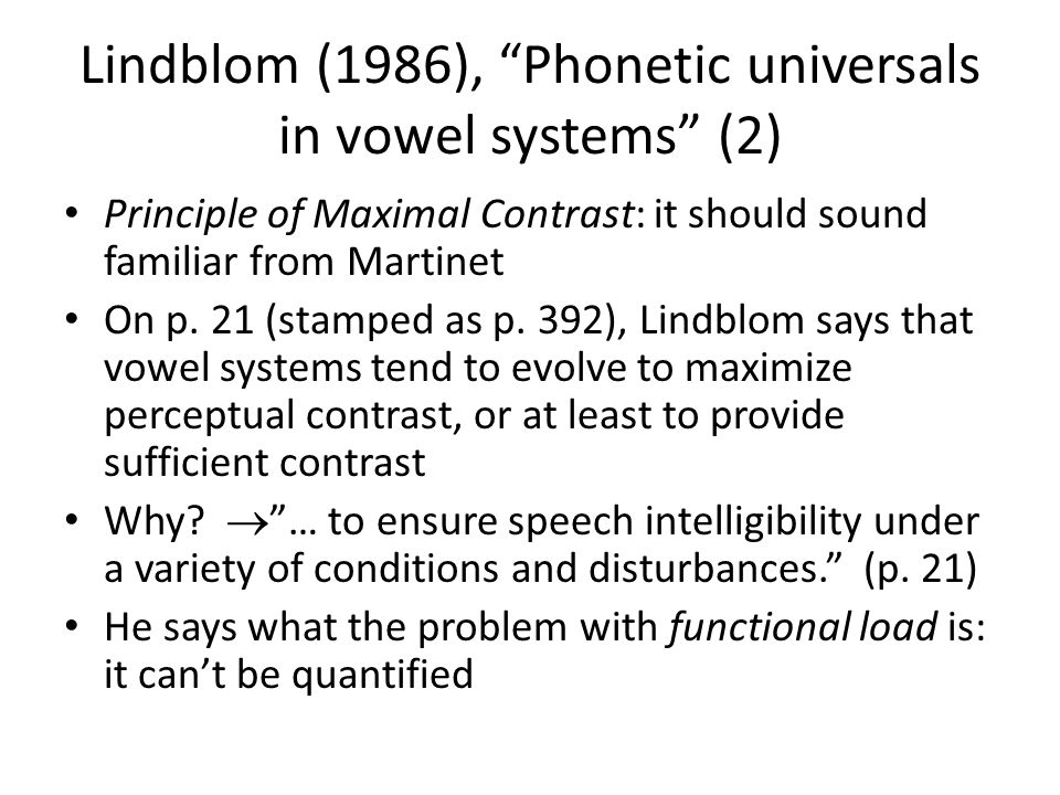 Lindblom (1986), Phonetic universals in vowel systems (2)