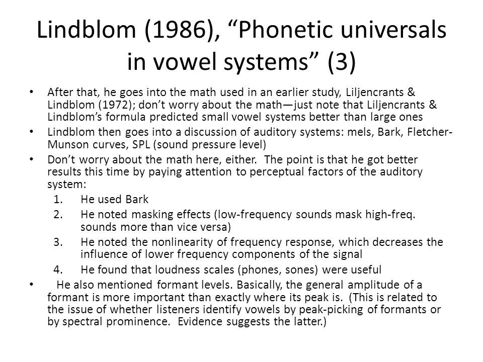 Lindblom (1986), Phonetic universals in vowel systems (3)