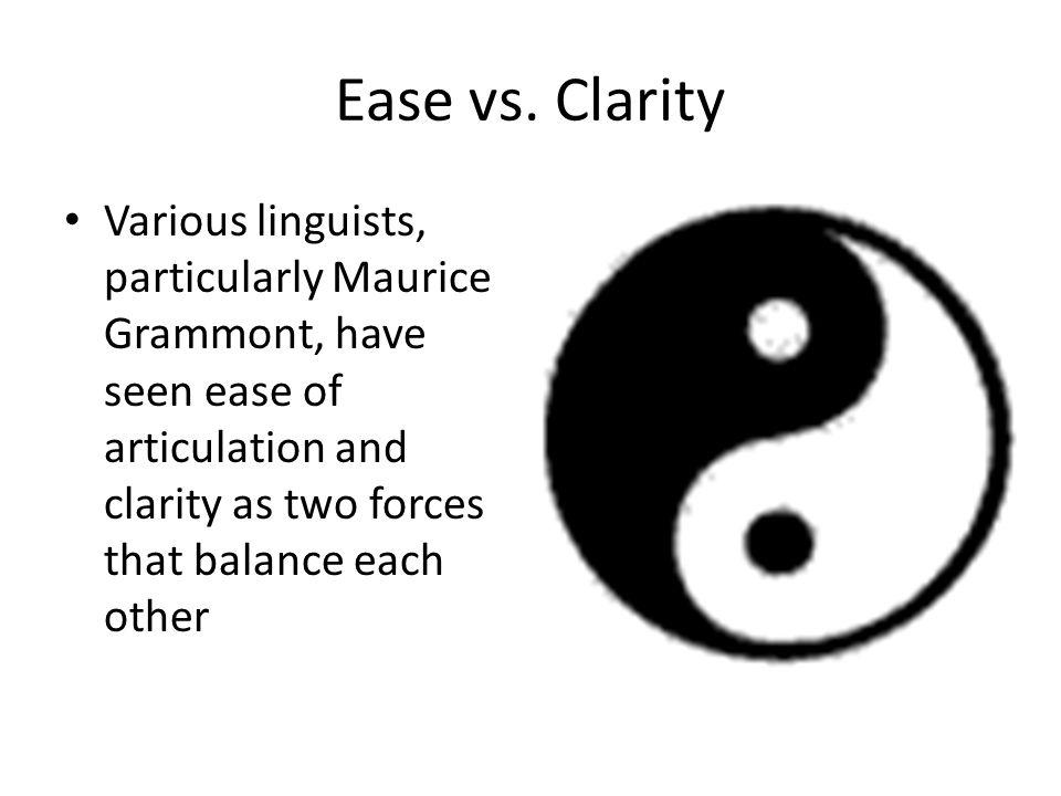 Ease vs.
