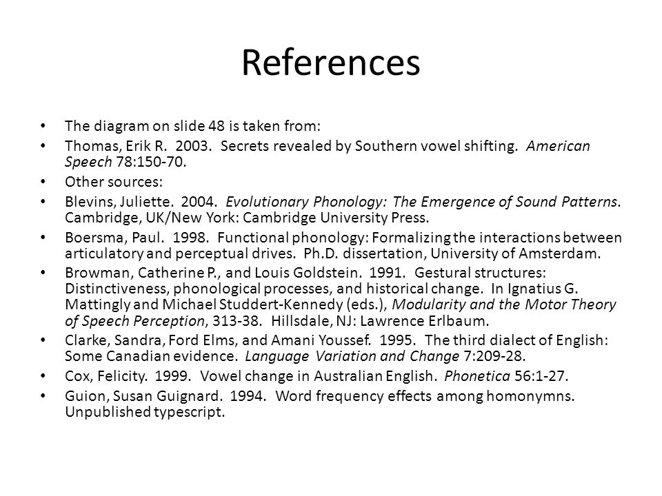 References The diagram on slide 48 is taken from: