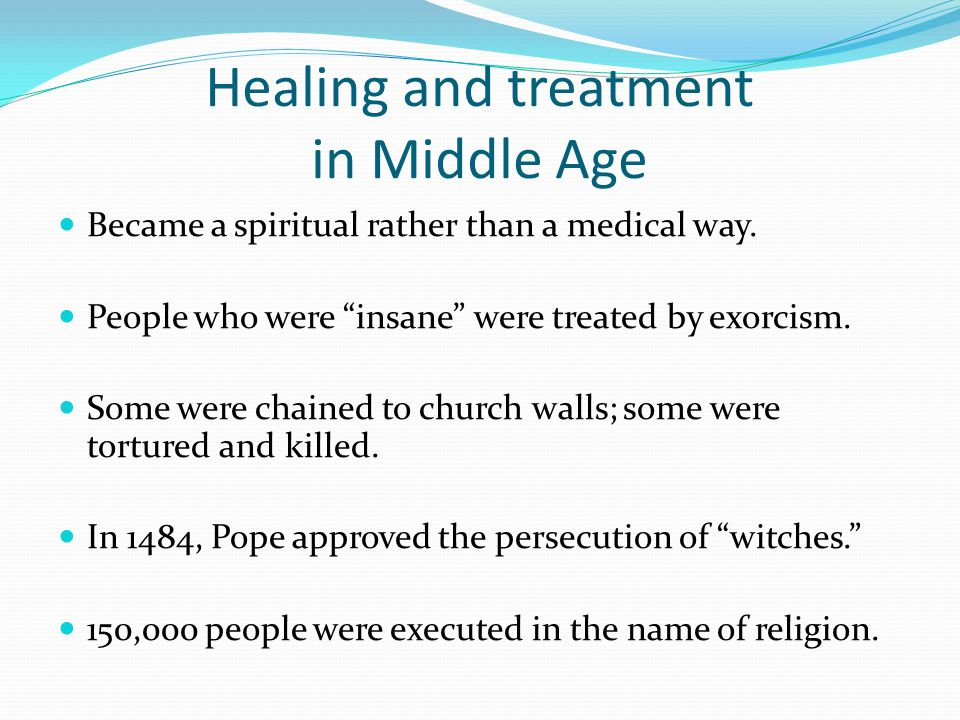 Healing and treatment in Middle Age