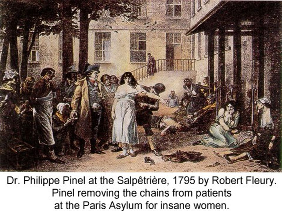 DR. PINEL SAVED THE PATIENTS FROM THEIR CHAINS.