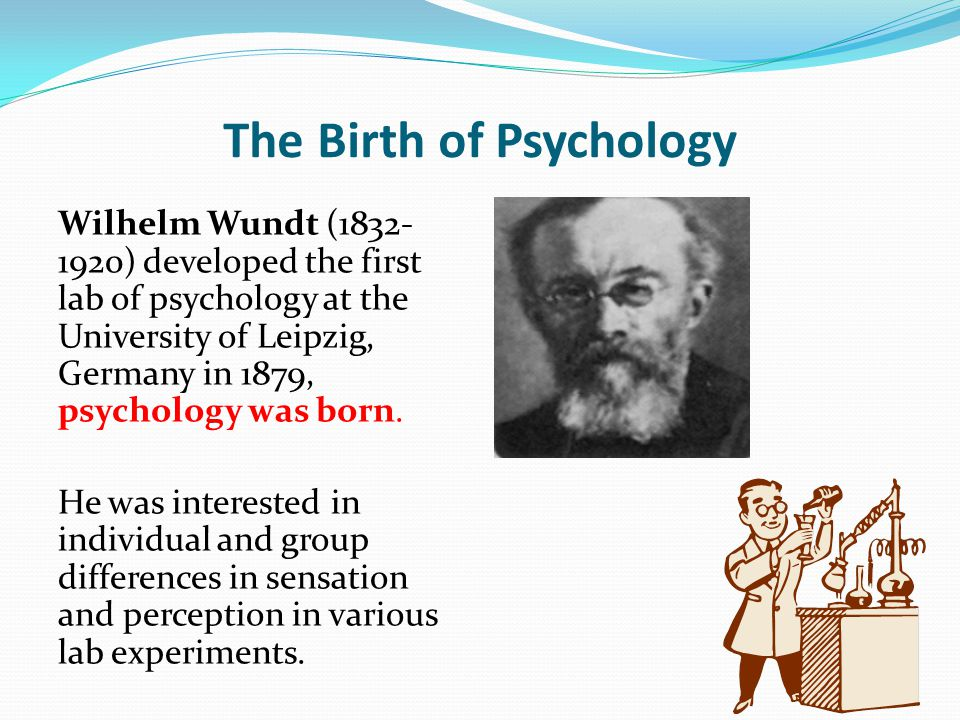 The Birth of Psychology