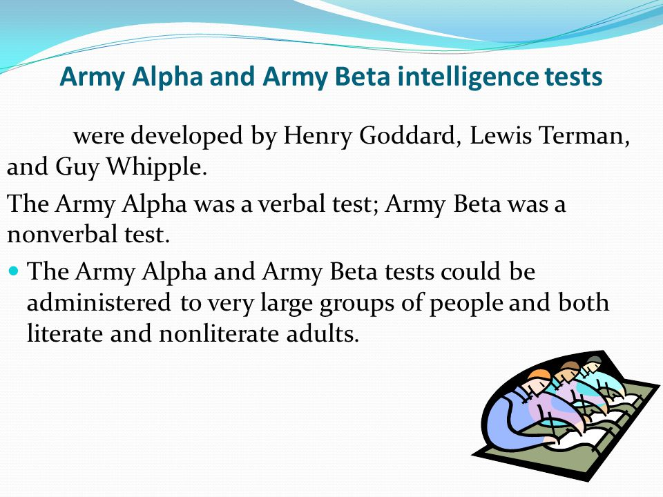 Army Alpha and Army Beta intelligence tests