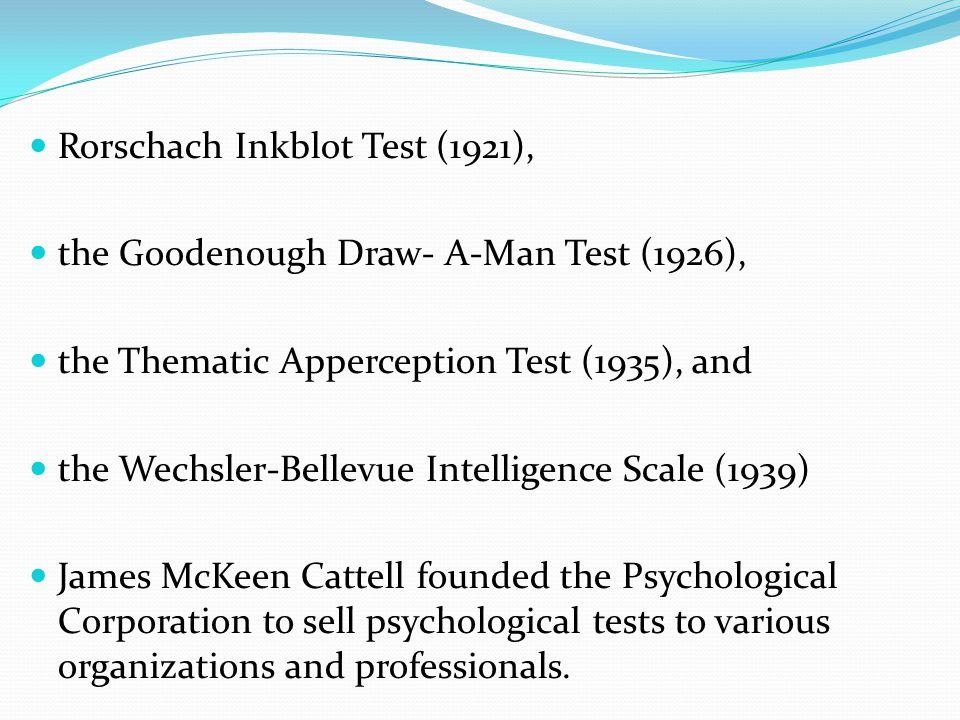 Rorschach Inkblot Test (1921),