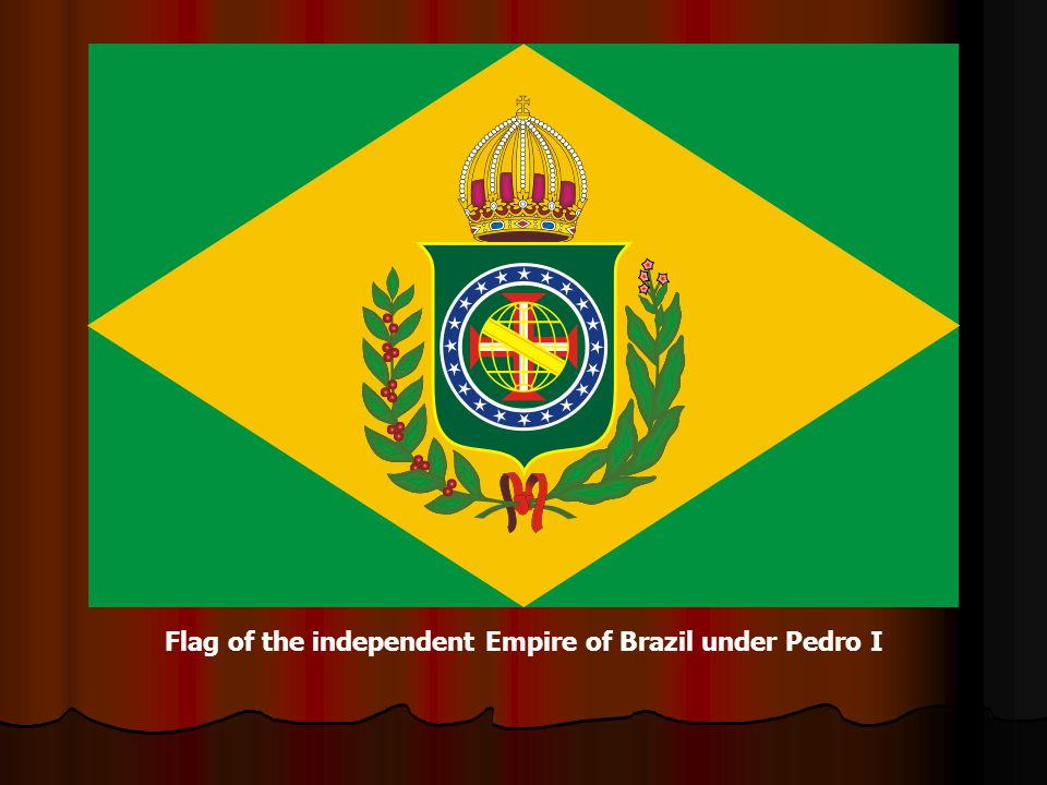 Flag of the independent Empire of Brazil under Pedro I