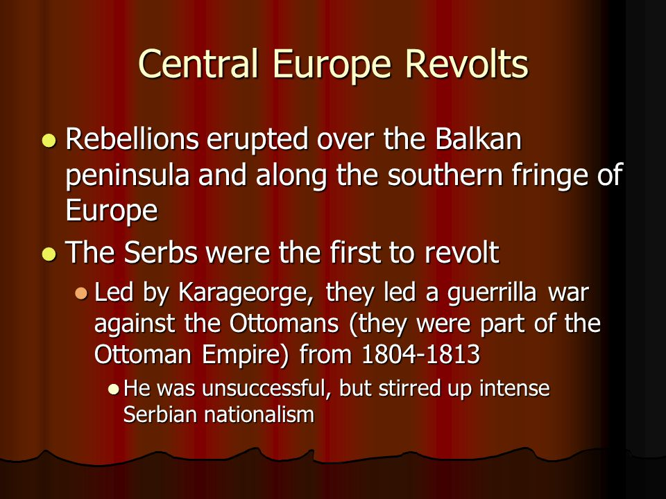Central Europe Revolts