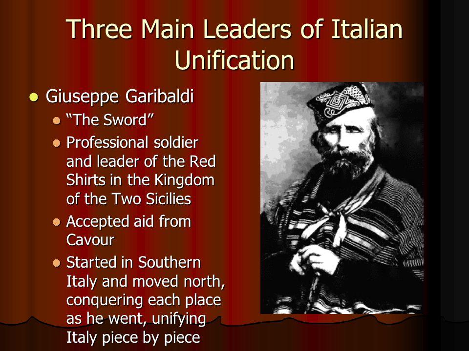 Three Main Leaders of Italian Unification