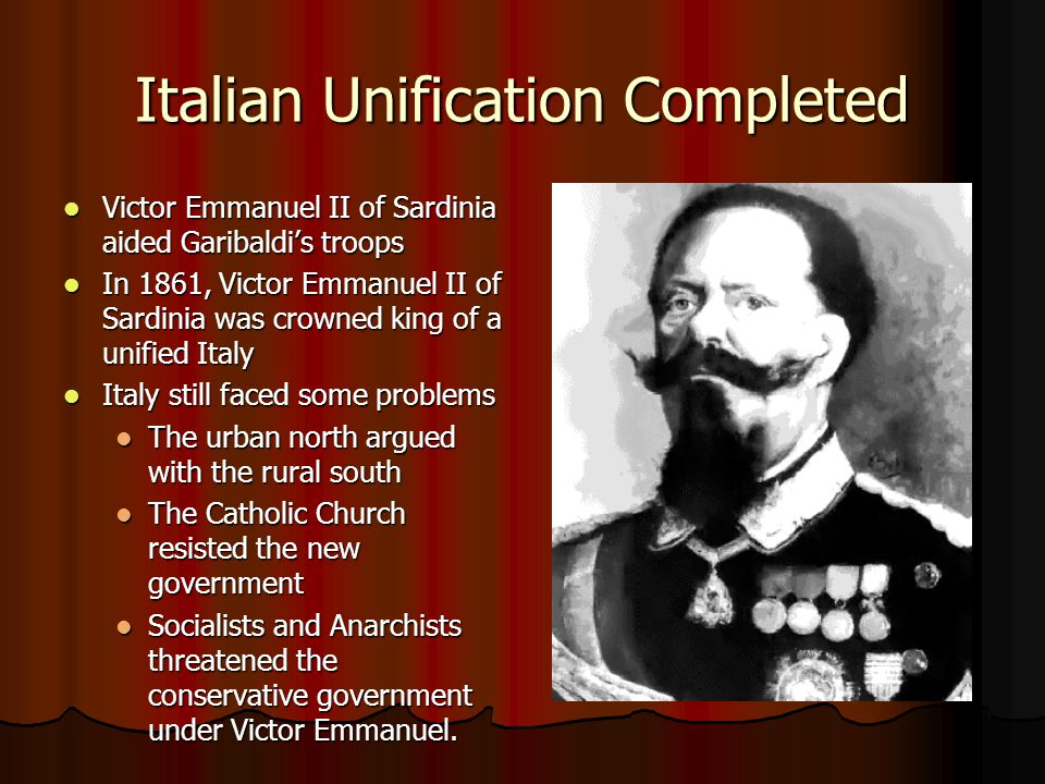 Italian Unification Completed