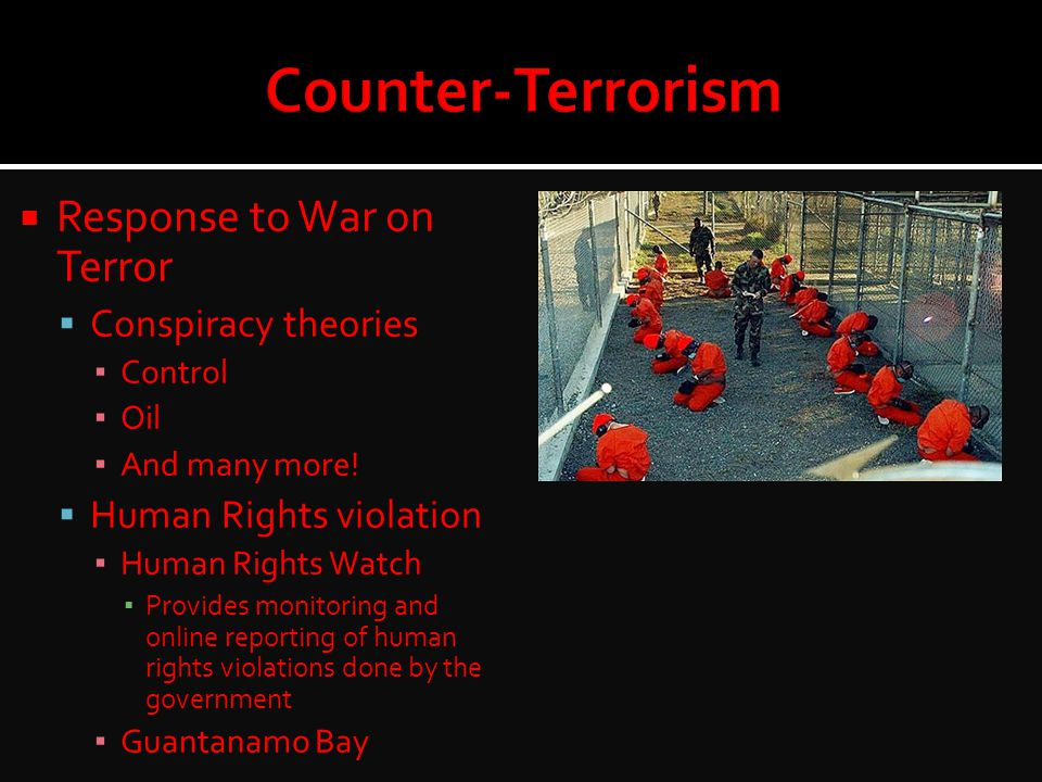 Counter-Terrorism Response to War on Terror Conspiracy theories