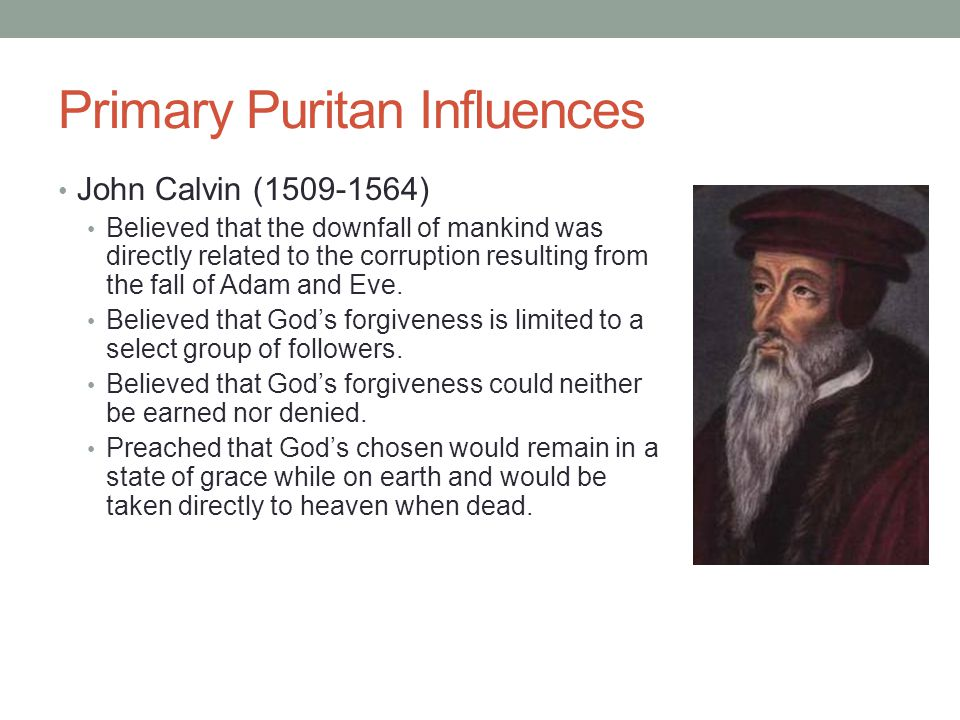 Primary Puritan Influences