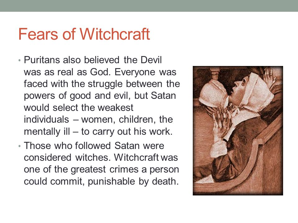 Fears of Witchcraft