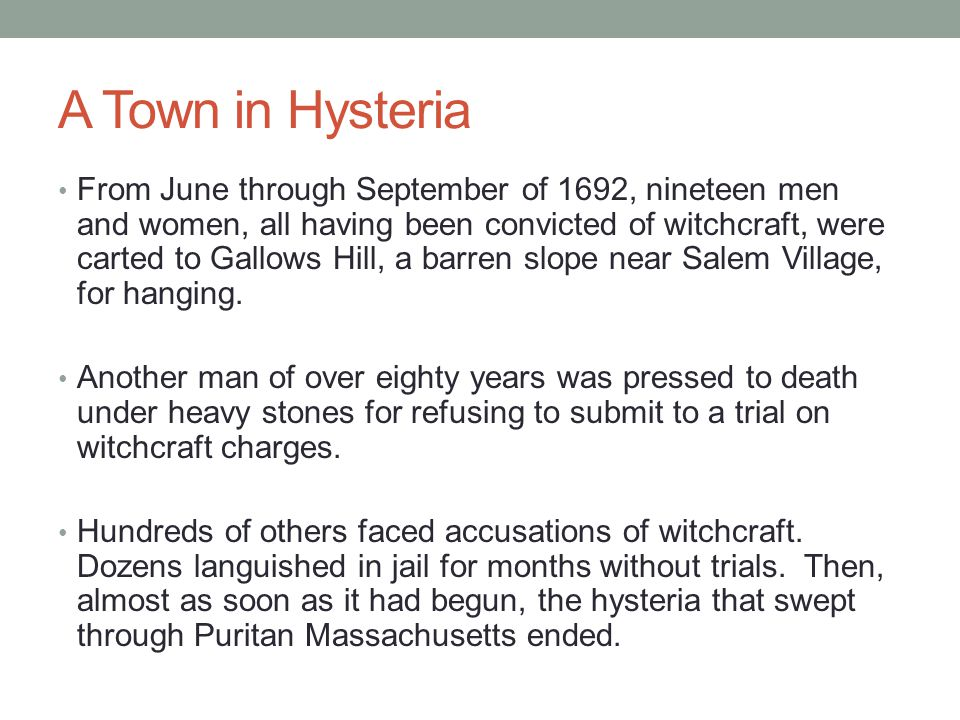 A Town in Hysteria