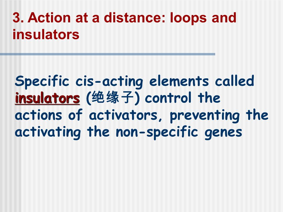 3. Action at a distance: loops and insulators