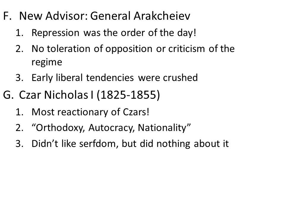 New Advisor: General Arakcheiev
