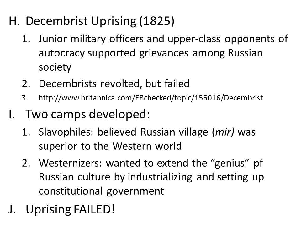 Decembrist Uprising (1825)