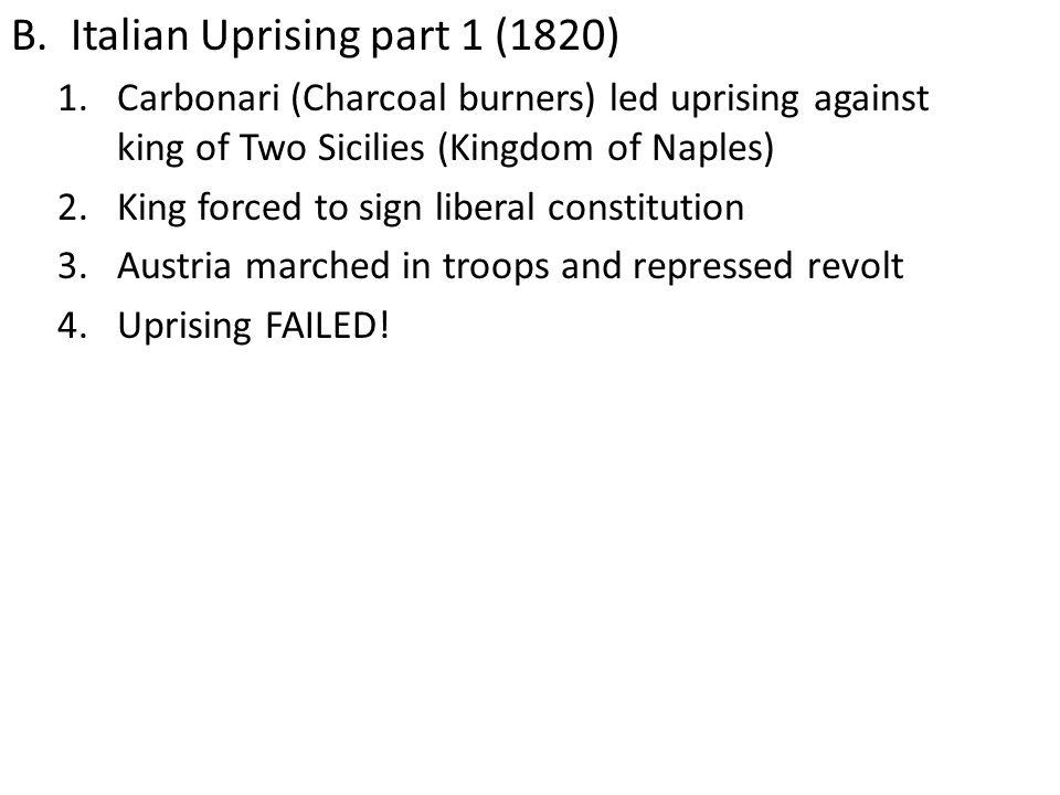 Italian Uprising part 1 (1820)