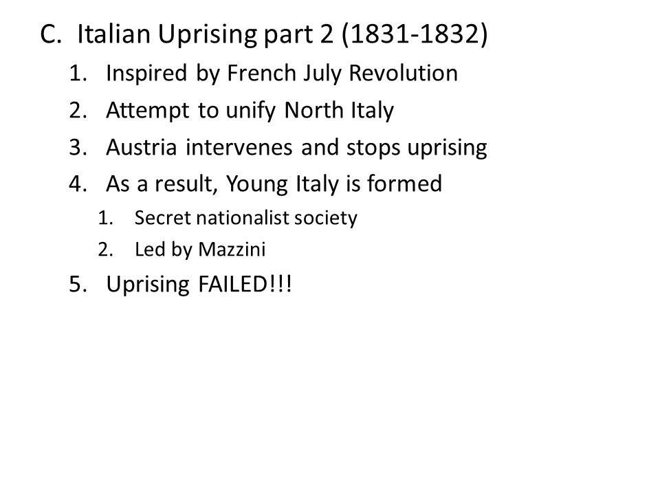 Italian Uprising part 2 (1831-1832)