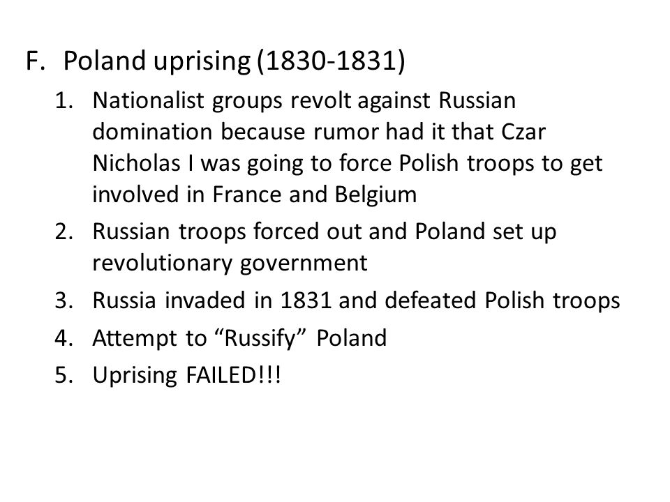 Poland uprising (1830-1831)