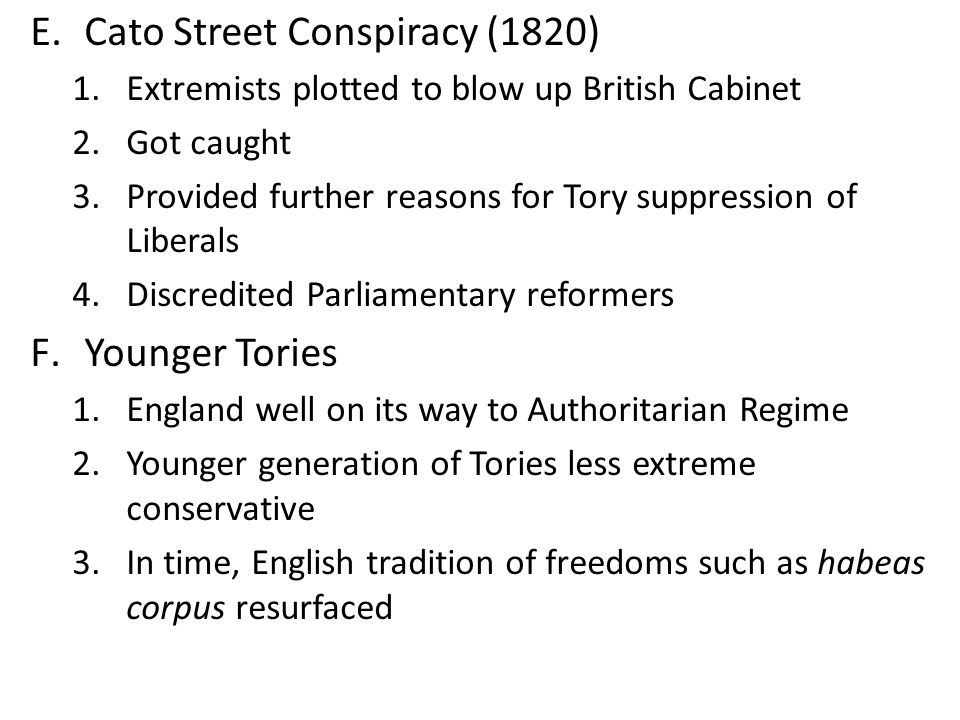 Cato Street Conspiracy (1820)