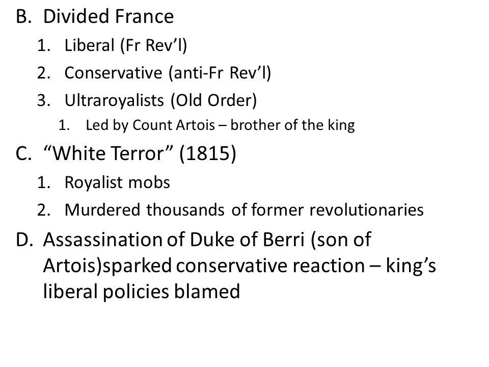 Divided France White Terror (1815)